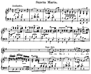 02 Sancta Maria:Solo Quartet SATB, Choir SATB and Piano. Litaniae lauretanae K.195, W.A. Mozart. Vocal Score (Hans Sitt) Ed. Breitkopf (1886). Latin. | eBooks | Sheet Music
