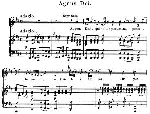 05 Agnus Dei:Soprano Solo, Choir SATB and Piano. Litaniae lauretanae K.195, W.A. Mozart. Vocal Score (Hans Sitt) Ed. Breitkopf (1886). Latin. | eBooks | Sheet Music