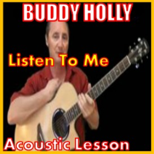 learn to play listen to me by buddy holly