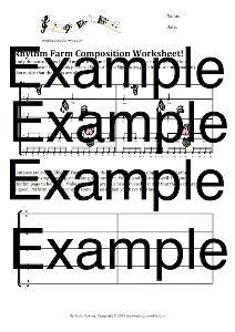 rhythm farm composition worksheet