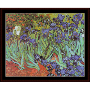 die irises postersize - van gogh cross stitch pattern by cross stitch collectibles