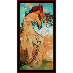 Summer 1896 - Mucha cross stitch pattern by Cross Stitch Collectibles | Crafting | Cross-Stitch | Wall Hangings