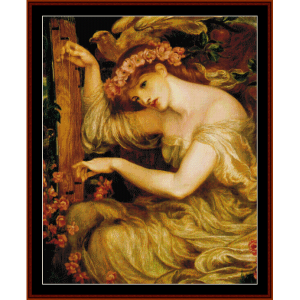 a sea spell - dante rossetti cross stitch pattern by cross stitch collectibles