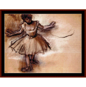 dancer - degas cross stitch stitch pattern by cross stitch collectibles
