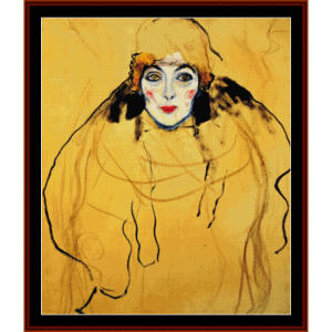 female head - klimt cross stitch pattern by cross stitch collectibles