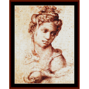 cleopatra - michelangelo cross stitch by cross stitch collectibles