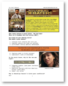 the great debaters, whole-movie english (esl) lesson