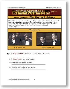 the great debaters, the harvard debate, short-sequence english (esl) lesson