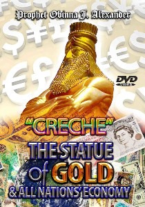 creche - the statue of gold and all nations economy.