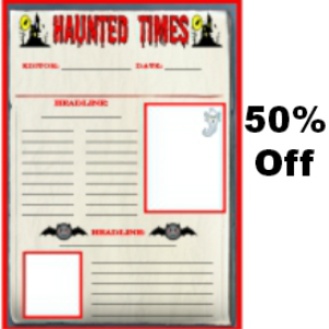 50% off haunted times halloween newspaper