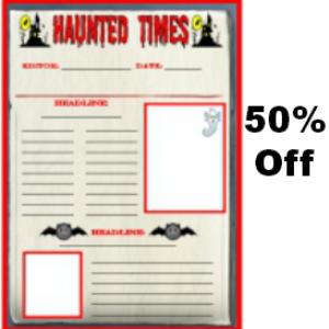 50% off haunted times halloween newspaper