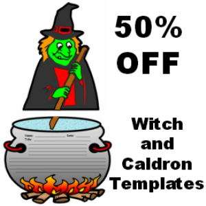50% Off Witch and Cauldron Writing Templates | Documents and Forms | Other Forms