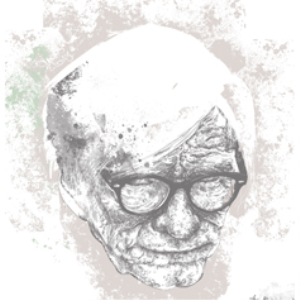 old man vector illustration