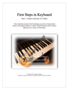 First Steps in Keyboard - Part 2 - Chords in C | eBooks | Music