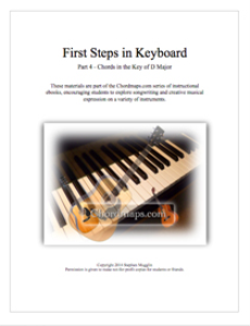 first steps in keyboard - part 4 - chords in d