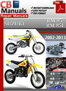 suzuki rm 85 rm 85l 2002-2013 service manual