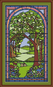 tree in stained glass
