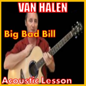 learn to play big bad bill by van halen