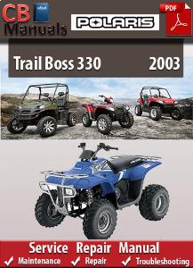 polaris trail boss 330 2003 service repair manual