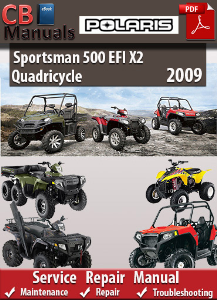 Polaris Sportsman 500 EFI X2 Quadricycle 2009 Service Repair Manual | eBooks | Automotive