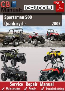 Polaris Sportsman 500 Quadricycle 2007 Service Repair Manual | eBooks | Automotive