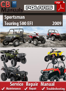 Polaris Sportsman Touring 500 EFI 2009 Service Repair Manual   eBooks   Automotive