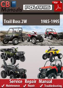 polaris trail boss 2w 1985-1995 service repair manual