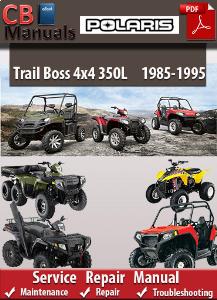 polaris trail boss 4x4 350l 1985-1995 service repair manual