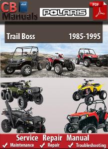 polaris trail boss 1985-1995 service repair manual