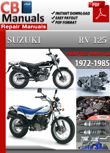 suzuki rv 125 1972-1985 service repair manual