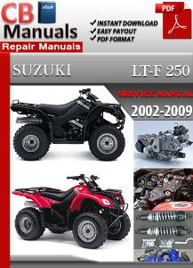 suzuki lt-f 250 2002-2009 service repair manual