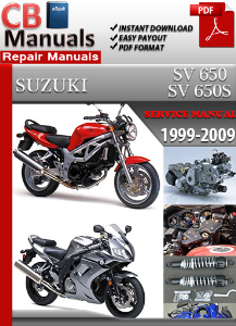 suzuki sv 650 1999 2009 service repair manual ebooks automotive rh store payloadz com 2003 sv650 service manual pdf 2002 SV650