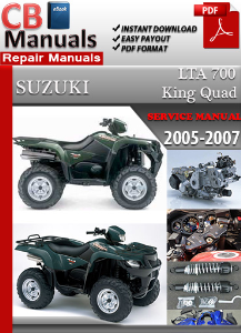 suzuki lta 700 king quad 2005-2007 service repair manual