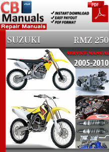 suzuki rmz 250 2005-2010 service repair manual