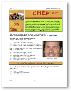 chef, whole-movie english (esl) lesson