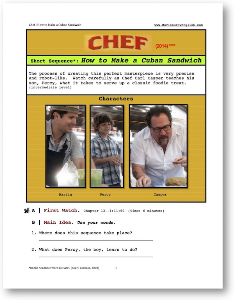 chef, how to make a cuban sandwich, short-sequence english (esl) lesson