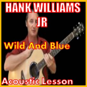 learn to play wild and blue by hank williams jr