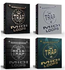 Trap Midi Loops Complete  Bundle Pack  1 - 4    You Save $40 | Music | Rap and Hip-Hop