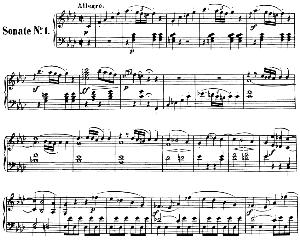piano sonata no.1, op.2 no.1 in f minor. l.v. beethoven. ed. breitkopf urtext (karl krebs), vol. i  (kalmus reprint). restored.