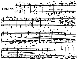 Piano Sonata No.6, Op.10 No.2 in F Major. L.V. Beethoven. Ed. Breitkopf Urtext (Karl Krebs), Vol. I  (Kalmus Reprint). Restored.   eBooks   Sheet Music