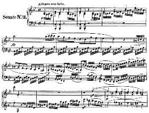 Piano Sonata No.11, Op.22 in B-Flat Major. L.V. Beethoven. Ed. Breitkopf Urtext (Karl Krebs), Vol. I  (Kalmus Reprint). Restored. | eBooks | Sheet Music