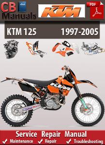 ktm 125 1997-2005 service repair manual
