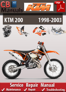 KTM 200 1998-2003 Service Repair Manual | eBooks | Automotive