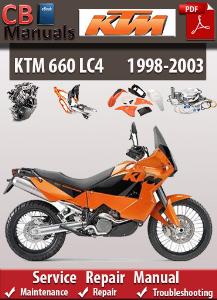 ktm 660 lc4 1998-2003 service repair manual