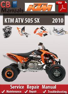 ktm 505 sx 2010 service repair manual