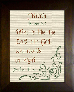 Name Blessings -  Micah 2   Crafting   Cross-Stitch   Religious
