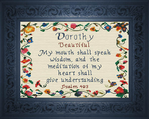 Name Blessings -  Dorothy 2 | Crafting | Cross-Stitch | Religious