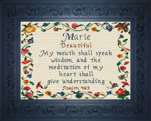 Name Blessings -  Marie 2 | Crafting | Cross-Stitch | Religious