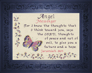 Name Blessings - Angel 2 | Crafting | Cross-Stitch | Religious