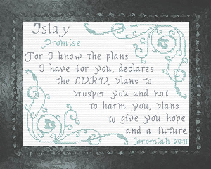 Name Blessings -  Islay | Crafting | Cross-Stitch | Religious